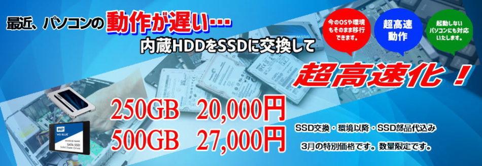 格安SSD交換